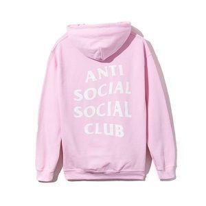 PINK ANTI SOCIAL SOCIAL CLUB HOODIE
